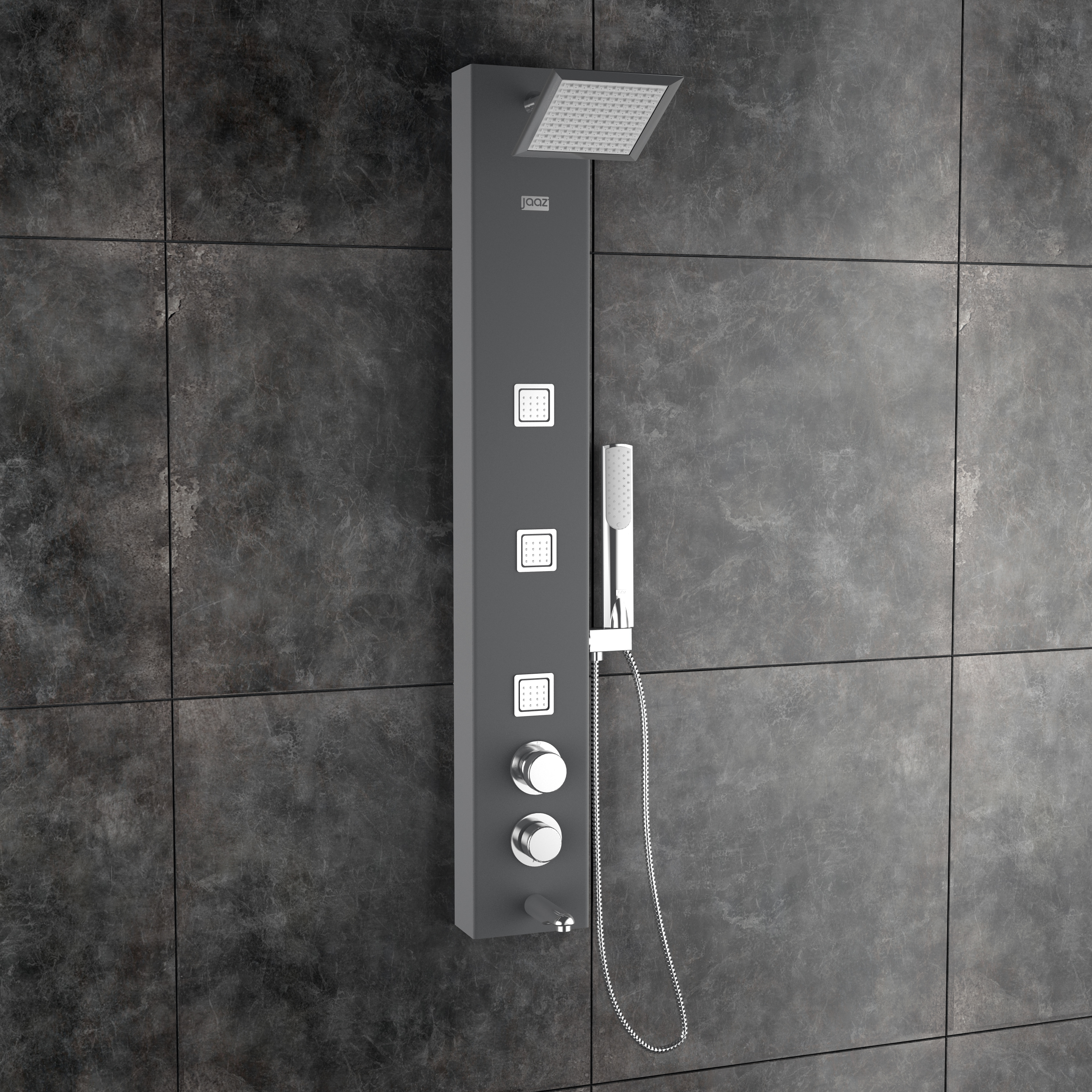 Ariel Black Shower Panel With 3 No Of Body Jets